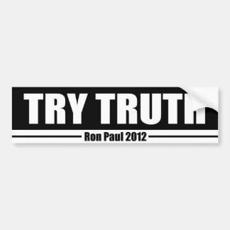 Try Truth Car Bumper Sticker