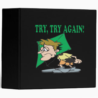 Try Try Again 3 Ring Binder