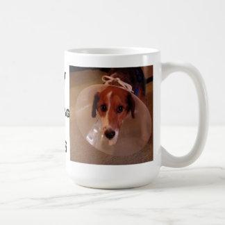 Try wearing this. classic white coffee mug