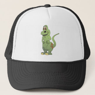 Tryannosaurus Rex Dinosaur Cartoon Trucker Hat