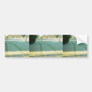 Trye Prints In Dewey Grass At Wanneroo Road In Car Car Bumper Sticker