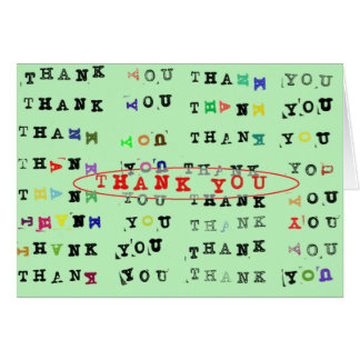 Trying Hard to Thank You Card