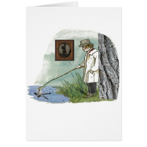 Trying To Catch Some Courage(Surrealist Collage) Greeting Card