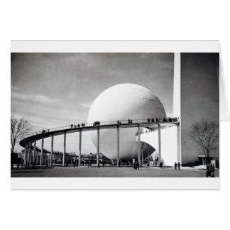 Trylon & Perisphere 1939 New York World's Fair Car Card