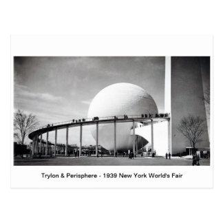 Trylon y Perisphere - la feria 1939 de mundo de Nu Tarjeta Postal
