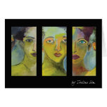 tryptic painting greeting card
