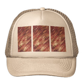Tryptic Pink Feather Trucker Hat