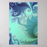 tryptich azul del arabesque posters