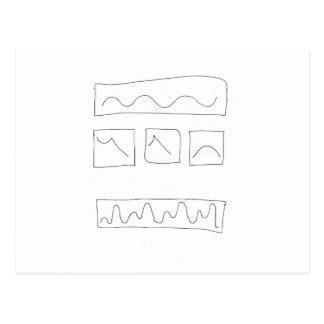 Tryptich waveform Calculi Postcard