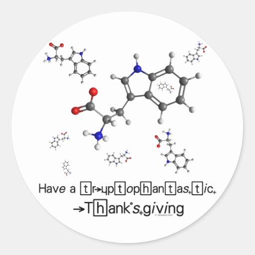 Tryptophan Molecule Classic Round Sticker