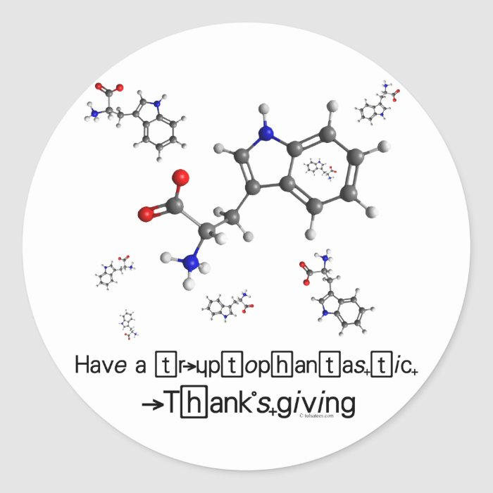 Tryptophan Molecule Classic Round Sticker
