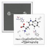 Tryptophan Molecule Pinback Button
