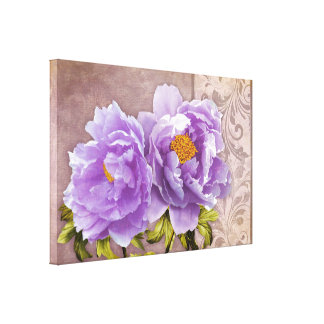 Tryst, Purple Peonies Canvas Prints