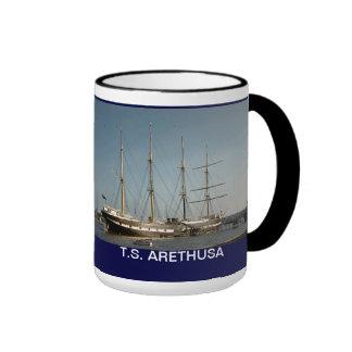 TS Arethusa at Upnpr Ringer Coffee Mug