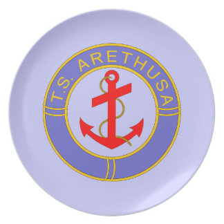 TS Arethusa badge Plate