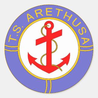 TS Arethusa Badge Classic Round Sticker
