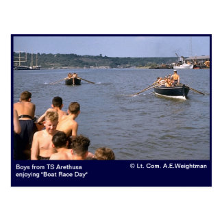 "TS Arethusa ""Boat Race Day"" Postcard"