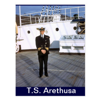 TS Arethusa, CHief P0, captain for a day Postcard