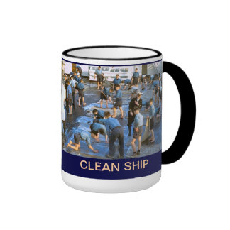 TS Arethusa, clean ship Ringer Coffee Mug
