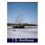 TS Arethusa, en el hielo de Medway Tarjeta Postal