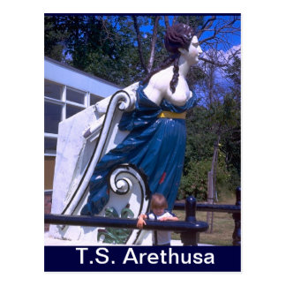 TS Arethusa, Figurehead of HMS Arethusa Postcard