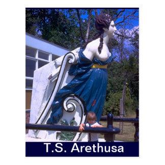TS Arethusa, Figurehead of HMS Arethusa Postcard