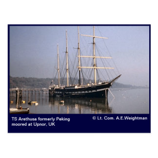 TS Arethusa formerly Peking moored at Upnor Postcard