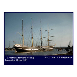 TS Arethusa formerly Peking Moored at Upnor, UK Postcard