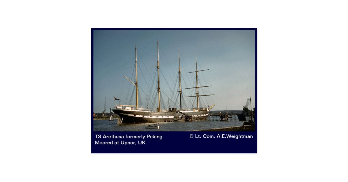 Ts arethusa formerly peking moored at upnor uk postcard for Ts arethusa pictures