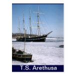 TS Arethusa, icebound Tarjeta Postal