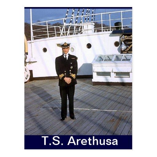 TS Arethusa, jefe P0, capitán por un día Postal