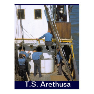 TS Arethusa,Maintenance party Postcard