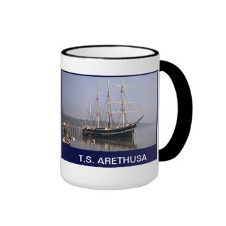 TS Arethusa moored in the Medway Ringer Coffee Mug