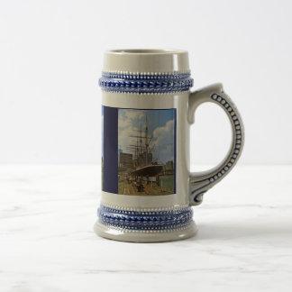 TS Arethusa, renamed Peking in New York 18 Oz Beer Stein