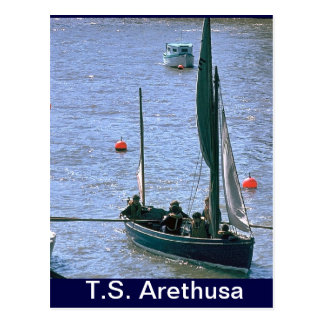 TS Arethusa, SAiling the whaler Postcard