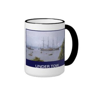 TS Arethusa under tow Ringer Coffee Mug