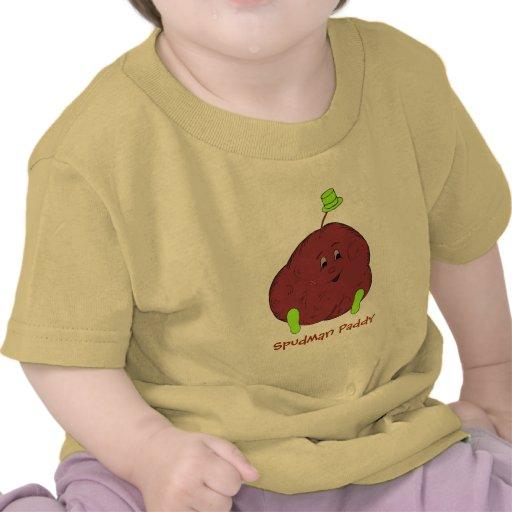 Ts-camisa del niño del arroz de Spudman
