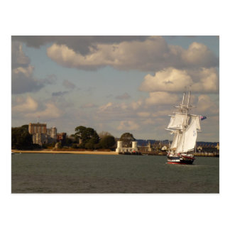 TS Royalist entering Poole Harbour Postcard