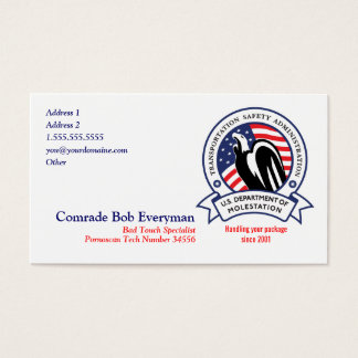 TSA Agent Parody Cards