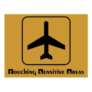 TSA Agents Like to Touch Sensitive Areas Dark Postcard