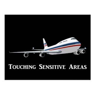 TSA Agents Like to Touch Sensitive Areas Light Postcard