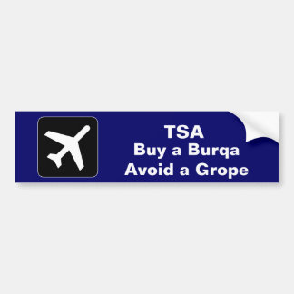 TSA Burqa Car Bumper Sticker