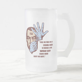 TSA - Essential Liberty Frosted Glass Beer Mug