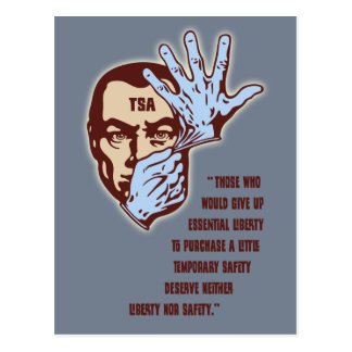 TSA - Essential Liberty Postcard