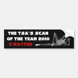 TSA: Exploración del año 2010 Pegatina Para Auto