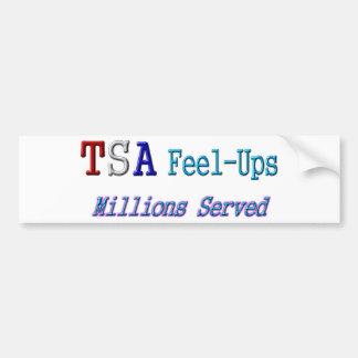 TSA Feel-Ups Millions Served Bumper Stickers