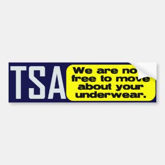 TSA: Free to move about... Bumper Sticker
