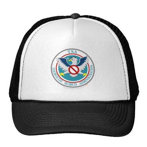 TSA Funny Logo with Cartoon Eagle Hat