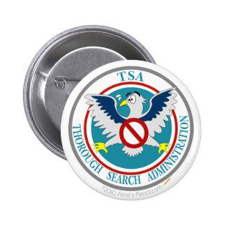 TSA Funny Logo with Cartoon Eagle Pinback Button