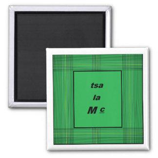 tsa la Mc - Cherokee - Irish 2 Inch Square Magnet